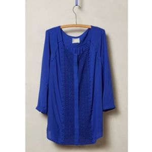 anthropologie maeve crescent street button blouse